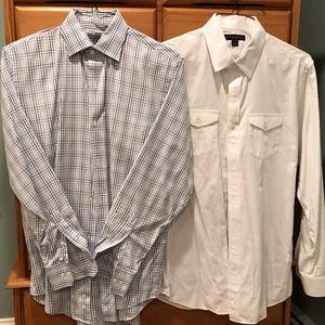 Banana Republic Shirt Duo 15-15 1/2 (M)